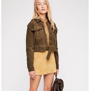 Cropped Evelyn Velvet Military Jacket [Free People